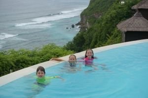 Same pic -earlier in the day --with kids in the pool