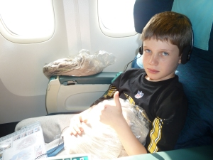 Fletcher - on the flight to Denpasar