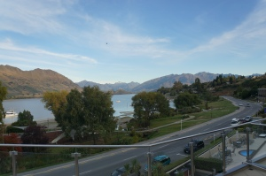 View of Lake Wanaka from our hotel